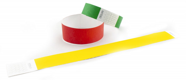 Einlassbänder aus Tyvek® unbedruckt 19 mm und 25 mm (10er Pack)